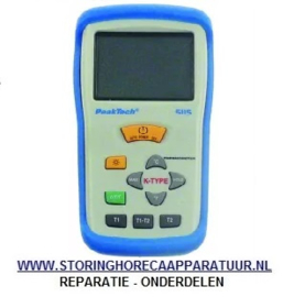 ST1800026 - Temperatuurmeter PEAK TECH 5115 incl. draadvoeler meeteenheid °C/°F -50 tot +1300°C voeler K