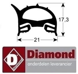 458RTFOC00721 - Deurrubber oven DIAMOND PFE 5D
