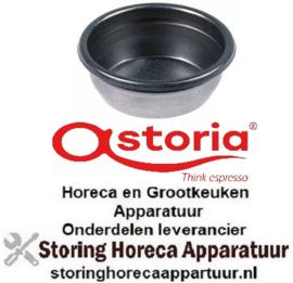 145529013 - Koffiefilter ø 70mm inbouw ø 60,5mm, H 25,5mm kopjes 2 hoeveelheid koffie 14g gaten ø 0,3x0,3mm ASTORIA