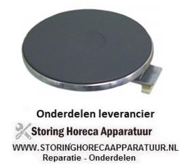 105490064 - Kookplaat ø 300 mm 3500 W - 400V met 8mm oversteekrand