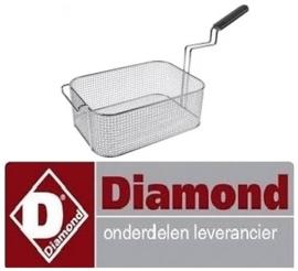 190970408 - Frituurmand staal verchroomd voor friteuse DIAMOND