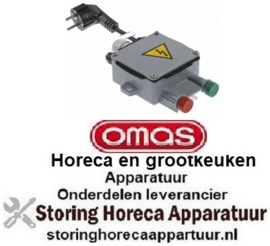 194348122 - Drukschakelaar groen/rood 230V aansluiting kabel 1800mm OMAS