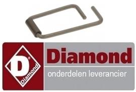 1990C6978 - Veer ø 6 mm L 54 mm B 27,5 mm voor deurgreep steamer/ oven DIAMOND