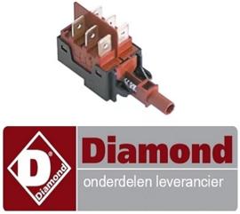 650226095 - Tastelement 250V 16A voor kap vaatwasser DIAMOND