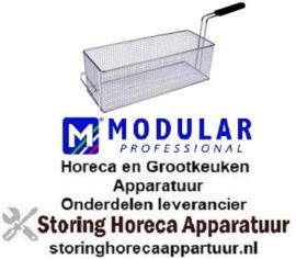 608970576 - Frituurmand L1 400mm, B1 150mm, H1 135mm staal verchroomd MODULAR