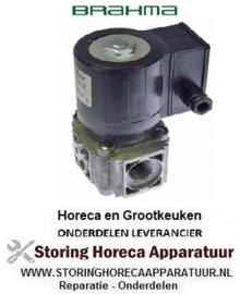 """681106069 - Gas Magneetventiel 230VAC 3/4"""" L 96mm BRAHMA"""