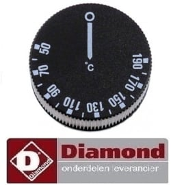 922402592000 - Knop voor friteuse F16E/D-N   thermostaat t.max. 190°C DIAMOND