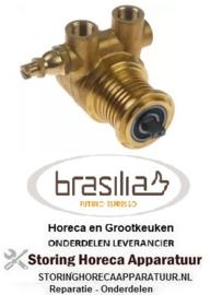 104499088 - Drukverhogings pompkop PA074 FLUID-O-TECH met bypass koper BRASILIA
