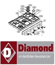 063672.149.00 - GROTE RING VOOR BRANDER 3.6Kw - G60 DIAMOND