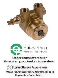"470500918 - Drukverhogings pompkop CA104 FLUID-O-TECH L 60mm 100l/h aansluiting 3/8"" GAS met bypass koper"