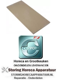 128850110 - Vuurvaststeen L 588mm B 294mm H 19mm CUPPONE