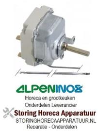 412375412 - Thermostaat t.max. 320°C instelbereik 50-320°C 3-polig 3NO 16A voeler ø 3,1mm voeler L 226mm ALPENINOX