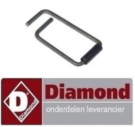 023514390 - Veer voor deurgreep ø 6mm L 54mm B 27,5mm DIAMOND