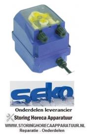 1203.611.57 - Doseerapparaat SEKO toerentalregeling 1-7l/h 230 VAC wasmiddel slang ø 4x6mm slangtype K