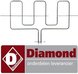 58901200262 - Verwarmingselement 2500 Watt voor oven DIAMOND C5FV6-N