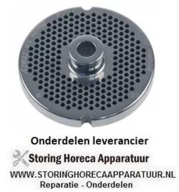 125696125 - Gatenschijf gehaktmolen type ENTERPRISE grootte 22 gat ø 3mm met naaf 2 RVS ø 82 mm