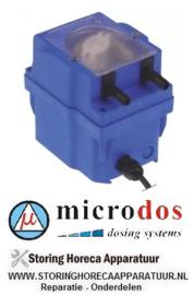 97536.1787 - Doseerapparaat MICRODOS toerentalregeling 18l/h 230 VAC wasmiddel slang ø 8mm slang Santoprene