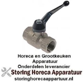 """255540730 - Kogelkraanaansluiting 3/4"""" ID - 3/4"""" ID DN20 totale lengte 70mm met hendelgreep"""