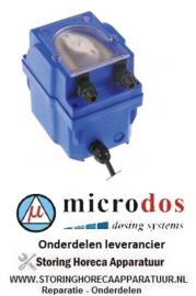 8283.617.76 - Doseerapparaat MICRODOS toerentalregeling 7l/h 230 VAC wasmiddel slang ø 4x6mm slang Santoprene
