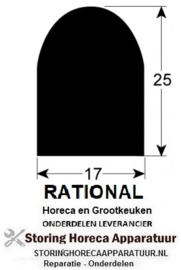 429900055 - Rekkenwagendichting per meter silicone schuim voor RATIONAL