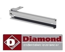 018TOS-L -  Optie koelwekbankdeur slot gemonteerd DIAMOND