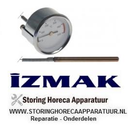 498403658 - Thermometer inbouw ø 60mm t.max. 500°C 0 tot +500°C IZMAK