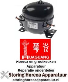 979605245 - Compressor HuaGuang koelmiddel R134a type ATA72XL 220-240V 50/60Hz 7,2kg 1/5HP cilinderinhoud 7cm³