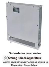 186750442 - Verdamper L 380mm H 425mm dikte 70mm inbouwpositie gecentreerd 122m³/h - 2m/s
