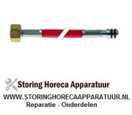 """599520954 - Toevoerwaterslang PVC recht-recht aansluiting 1/2"""" L 560mm plaatdruk 10bar t.max. 90°C rood RATIONAL"""