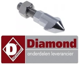40658400300 - Tegenstuk voor deur sluiting met pin 1-stand voor convectie oven DIAMOND CGE11