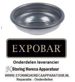 2617.50000.37  - Koffiefilter kopjes 1 hoeveelheid koffie 6,5 gram koffie - espressomachine EXPOBAR OFFICE 1 GR