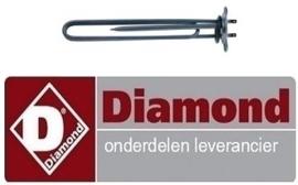 933230113 - Verwarmingselement boiler 2600W  voor vaatwasser DIAMOND DC402