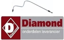 454.256.020.00 - Gas leiding voor waakvlambrander lavasteengrill DIAMOND