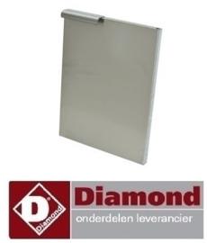 086N60/PDX3 - Rechtse deur voor onderstel 300 mm RVS DIAMOND