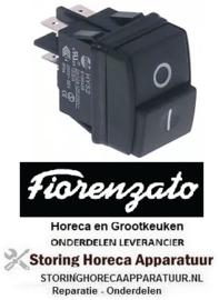 293301086 - Drukschakelaar  2NO 250V 12A voor koffiemolen Fiorenzato-M.C