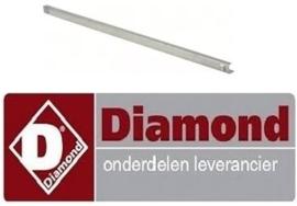 D991400020 - Rail U-vorm L 630mm B 15mm H 19mm links/rechts DIAMOND