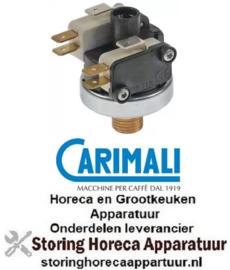 274541107 - Pressostaat ø 38mm drukbereik tot 1,1bar drukaansluiting verticaal vooringesteld op 1,1bar CARIMALI