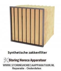 20102637 - Synthetisch zakkenfilter, klasse F8 - IFS95 - B288 X H288 X D600 - 4 ZAKKEN