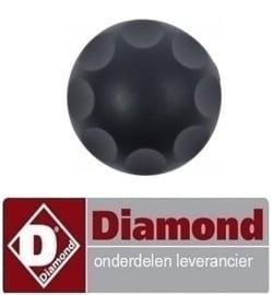 0660C4875 - Draai knop zwart DIAMOND