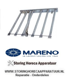 037105520 - Staafbrander 6-rijen L 520mm B 620mm H 60mm kantel braadpan MARENO