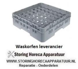 219972139 - Glazenkorf L 500 mm B 500 mm aantal glazen 49 H 142 mm werklengte 124 mm compartiment G 62 x 62 mm