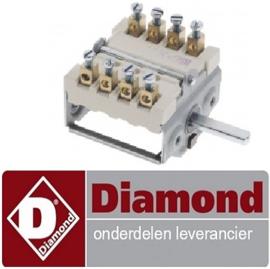 80666100000 - Nokkenschakelaar 2 schakelstanden voor bakplaat DIAMOND