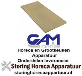 839850114 - Vuurvaststeen L 696mm B 348mm H 17mm voor pizza oven GAM