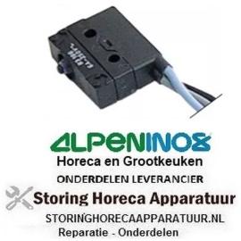 163345214 - Microschakelaar met drukstift 250V 6A 1CO aansluiting kabel 500mm ALPENINOX