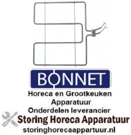 VERWARMINGSELEMENTEN BONNET HORECA EN GROOTKEUKEN APPARATUUR REPARATIE ONDERDELEN