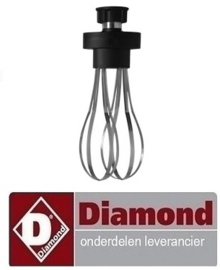 875AX/MAV - Klopper 50 liter voor staafmixer DIAMOND MAV-450