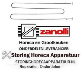 104415525 - Verwarmingselement 1100W 380V L 716mm B 205mm draad M15x1 bevestigingsafstand 197mm ZANOLLI