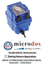 648361774 - Doseerapparaat MICRODOS toerentalregeling 4l/h 230 VAC wasmiddel slang ø 4x6mm slang Santoprene