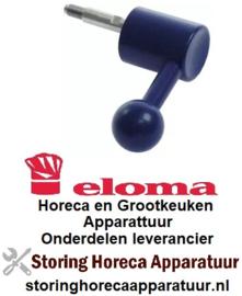 106692847 - Deurgreep combi-steamer aanslag links L 100mm B 55mm H 35mm greep ø 35mm blauw ELOMA