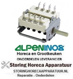 VE143300017 - Nokkenschakelaar 2-standen aan/uit (0-1-0-1) 4-polig ALPENINOX